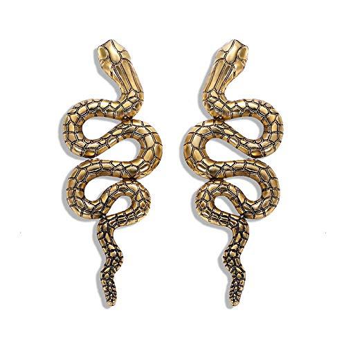 ZIXIYAWEI Oorbel Voor Vrouwen Goud Vintage Slang Oorbellen Voor Vrouwen Persoonlijkheid Verklaring Vrouwelijke Lange Dangle Drop Oorbel Brinco Overdreven Mode Sieraden