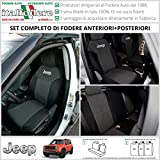 FODERE COPRISEDILI Jeep Renegade SU MISURA! Fodera Foderine COMPLETE Grigio 37 (Nero 38)