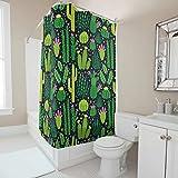 Sweet Luck Cortina de ducha antimoho y resistente al agua, lavable, de tela de...