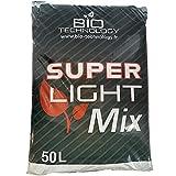 Bio Technology | 50 L | Tierra superLight Mix | tierra universal | replanteamiento de crecimiento y floración | con perlita | Fabricado en Francia |