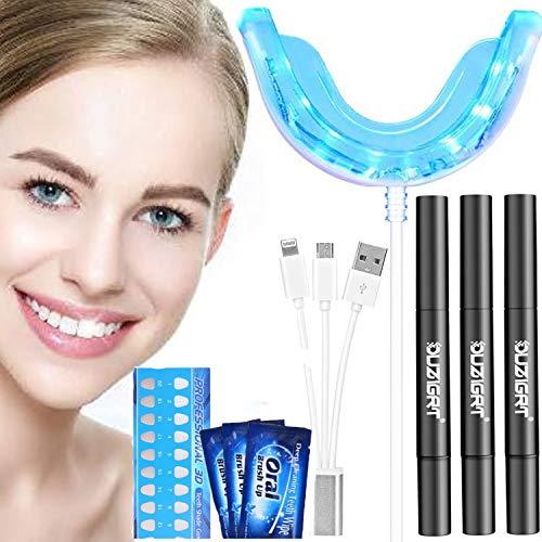Teeth Whitening Kit, Zahnaufhellung Set mit 3 Zahnaufhellung Stifte Zahnbleaching Gel zu Hause Zahnweiß,Bleichsystem,Zahnreinigung,Wiederverwendbares Home Bleaching Kit, Bleaching Zähne (Schwarz)