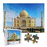 Herefun Rompecabezas 1000 Piezas, Puzzle Rompecabezas para Niños, Juguete Educativo de Regalo, Decoración para El Hogar, Divertido Juego Familiar para Adolescentes, Regalos para Amigos(Taj Mahal)