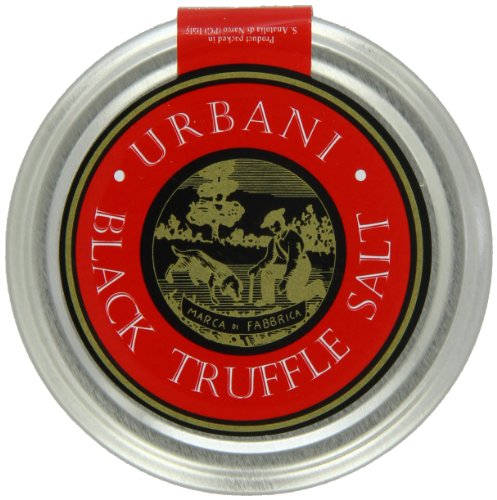 Italian Black Truffle Salt With Real Truffle Flakes - 3.5 Ounce - By Urbani Truffles. Made In Italy With The Finest Salt For A Strong Taste And Smell. Perfect To Boost Flavor To Any Kind Of Food