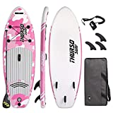 THURSO SURF Prodigy Junior Kids Inflatable SUP Stand Up Paddle Board 7'6 x 30'' x 4'' Two Layer Includes...