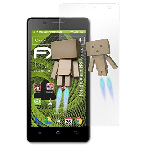 atFolix Bildschirmfolie kompatibel mit Hisense HS-U602 Spiegelfolie, Spiegeleffekt FX Schutzfolie
