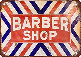 Barber Shop Vintage Look Reproduction Metal Tin Sign 12X18 Inches 2