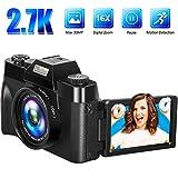 Appareil Photo Numérique Vlogging Caméra Appareil Photo 2.7K 30FPS 30.0MP 3.0 Pouces Écran à Basculement 16X Zoom Numérique Compact Caméra Mini Caméra