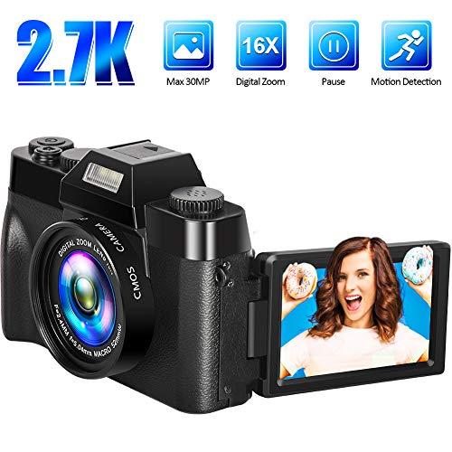 Digitalkamera Fotoapparat Digitalkamera Kamera 2.7K 30FPS 30.0MP 3.0 Zoll Flip Screen 16X Digitalzoom Kompaktkamera Minikamera