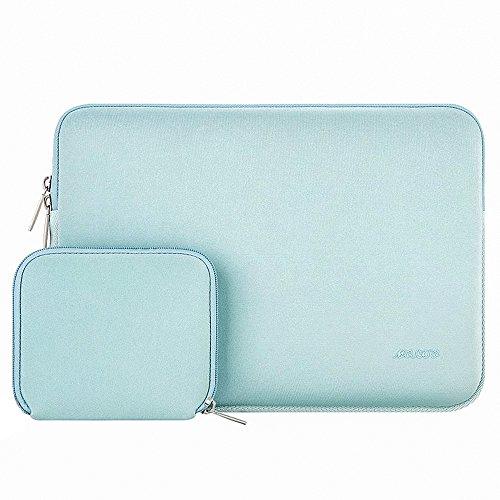 MOSISO Funda Protectora Compatible con 13-13.3 Pulgadas MacBook Air/MacBook Pro/Ordenador Portátil, Bolsa Blanda de Neopreno Agua Repelente con Pequeño Caso, Verde