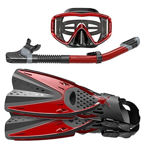 YLJXXY Antivaho Máscara de Snorkel, Aletas de Buceo Ajustables, Tubo de Snorkel Seco, Set de Snorkel para Unisex Adulto