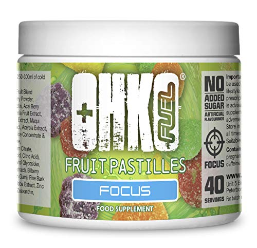 Focus Energy Drink Powder for Gamers | Range of Delicious Flavours | The Ultimate Gaming Supplements from OHKO Fuel (Fruit Pastille)