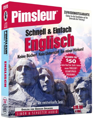 Pimsleur English for German Speakers Quick & Simple Course - Level 1 Lessons 1-8 CD: Learn to Speak