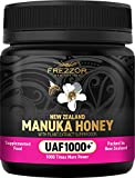 FREZZOR Manuka Honey UAF1000+, New Zealand Manuka Honey, Cold & Flu Symptom Relief, Infused with Noel Turner's UAF1000+ Seven Superfood Antioxidants, 1000x More Power, Skin Digestive Immune Supplement