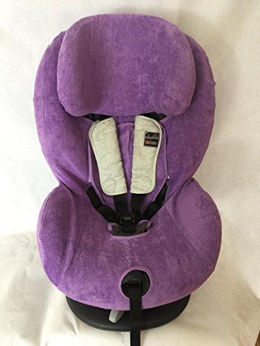 Sommerbezug Schonbezug Frottee für HTS Besafe iZi Comfort X3 Combi X4 Kid X2 Plus Frottee 100% Baumwolle lila