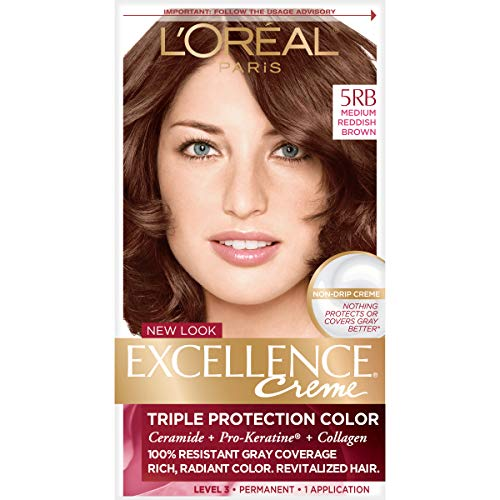 Price comparison product image L'Oreal Paris Excellence Creme Permanent Hair Color,  Medium Red Brown (3 Count)