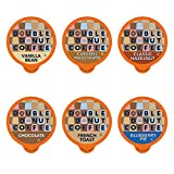 Flavored Coffee Variety Pack with Recyclable Single Serve Flavored Coffee Pods, for Keurig K Cups Coffee Makers, from Double Donut Coffee, 72 Count