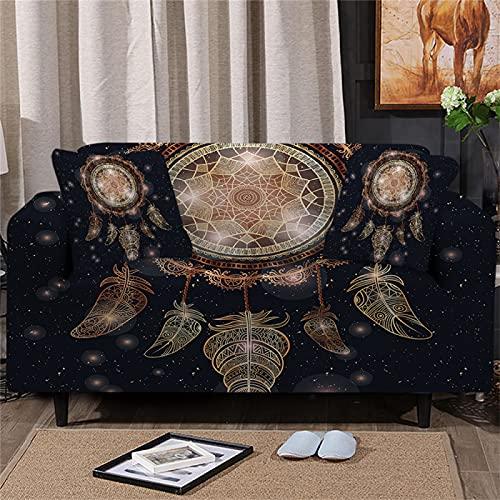 DHHY Schwarze Sofabezug Mit Bronzing-Muster, All-Inclusive-Sofabezug Aus Polyesterfaser, Universelle Sofabezug Für Alle Jahreszeiten 1 2 3 4 Sitze 1-Seater 80-120cm