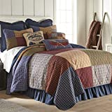 Full / Queen Bedding Set - 3 Piece - Lakehouse by Donna Sharp - Lodge Quilt Set with Full/Queen Quilt and Two Standard Pillow Shams - Fits Queen Size and Full Size Beds - Machine Washable