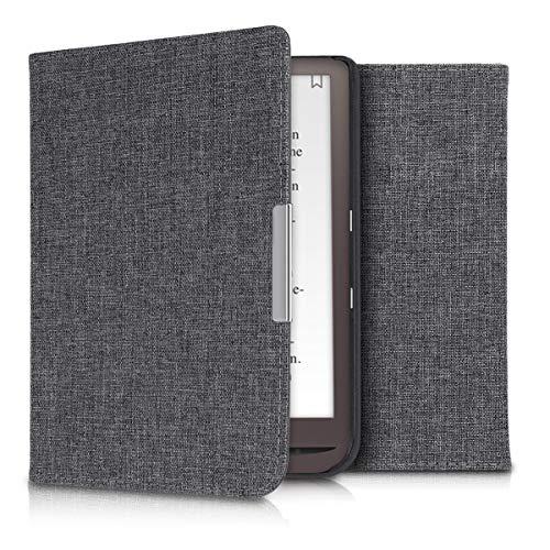 kwmobile Cover Compatibile con Pocketbook InkPad 3 3 PRO Color - Custodia a Libro in Tessuto - Copertina Flip Case per Lettore eReader