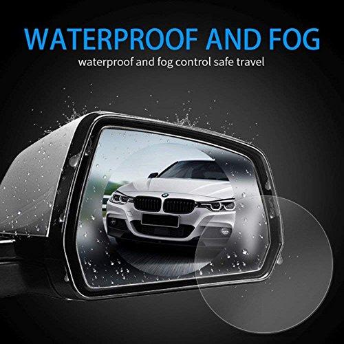 51Xp7ivIgDL - Freenavi Car Rearview Mirror Waterproof Film, Anti Fog Film Anti-Glare Anti Mist Anti-Scratch Waterproof Rainproof Rear View Mirror Window Clear Protective Film-2Pcs