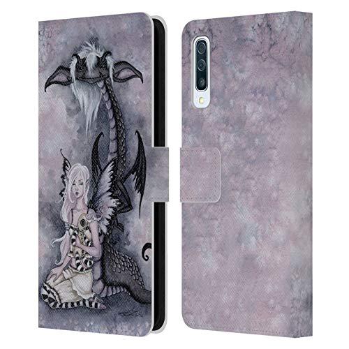 Officiële Amy Brown Evie en de nachtmerrie Folklore Lederen Book Portemonnee Cover Compatibel voor Samsung Galaxy A50s (2019)