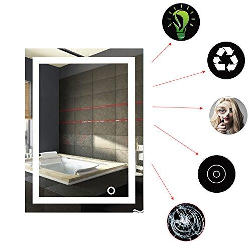 ddellk badkamerspiegel met lampen, aan de muur bevestigde eetbaarheid van de spiegel voor het hoofdhotel-badkamer