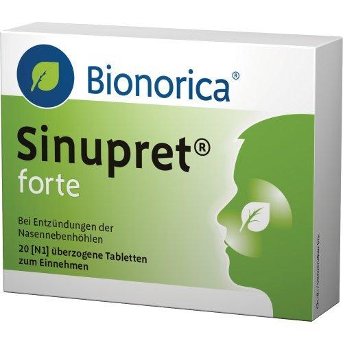 Detener la sinusitis a tiempo! Compresse Bionorica Sinupret Forte SINUS Congestion 2x20 confezione da 40 compresse