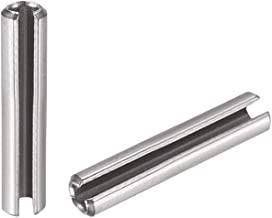 M2 x 18mm 304 Stainless Steel Split Spring Roll Dowel Pins Plain Finish 100Pcs sourcing map Slotted Spring Pin