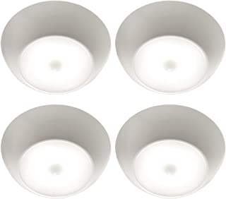 Mr. Beams MB990 Ultra Bright Wireless Battery Powered Motion Sensing Indoor/Outdoor LED Ceiling Light, 300 lm, White, 4-Pack