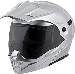d4407008 ScorpionEXO Unisex-Adult Modular/Flip Up Adventure Touring Motorcycle Helmet  (Hyper Silver,