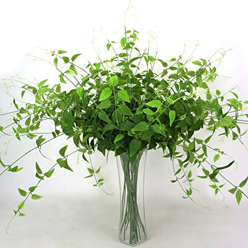 Olatokolaos 1 Branch Artificial Green Ivy Fake Leaves Honeysuckle Wall Hanging Plant Home Wedding Decoration - Tall Minimalist Natural Outdoor Orchid Outside Antspirit Bathroom Large A