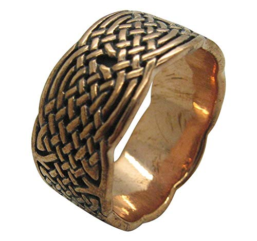 Size 15 Solid copper Celtic Knot band CTR671 - 7/16 of an inch wide.
