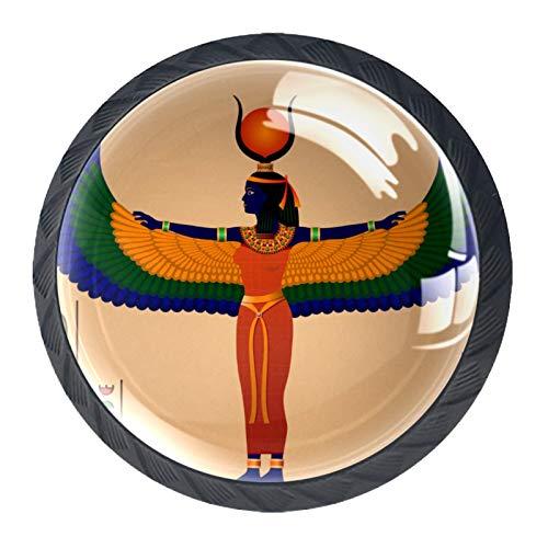 Tiradores de cajón para decoración de armario de cocina de oficina en casa,Antiguo Egipcio Vintage
