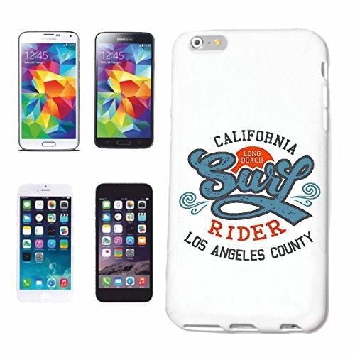 Reifen-Markt Hard Cover - Funda para teléfono móvil Compatible con Apple iPhone 6+ Plus California Long Beach Condado DE LOS Angeles Playa de Surf Longboard Surf S