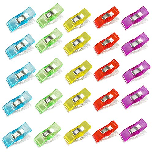 Multipurpose Sewing Clips 40 Pcs Premium Quilting Clips Assorted Colors for Sewing Craft Clamps Crafting Crochet Knitting Quilting Crafting Blinder Clips