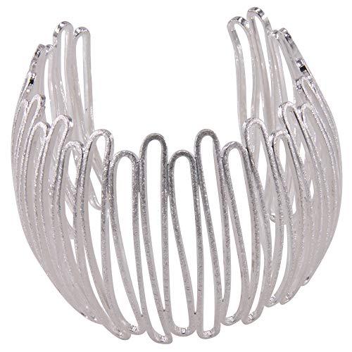 filigraner Armreif Silber - hochwertige Goldschmiedearbeit aus Deutschland - 60 mm breit (Sterling Silber 925) - Damen Armband Armspange