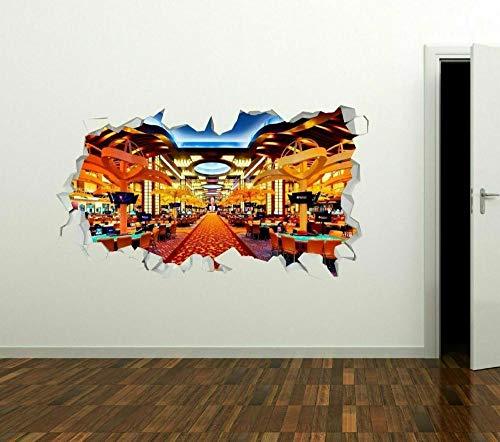 Pegatinas de pared Casino Illuminated Wall Decals 3D Wall Stickers Art Art