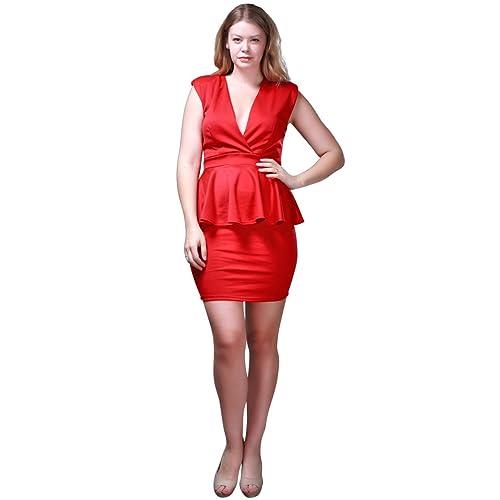 f83da5c3d91 Nyteez Women s Plus Size Sleeveless Business Peplum Dress