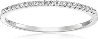 Dazzlingrock Collection 0.08 Carat (ctw) 10k Gold Round White Diamond Ladies Dainty Anniversary Wedding Band Stackable Ring
