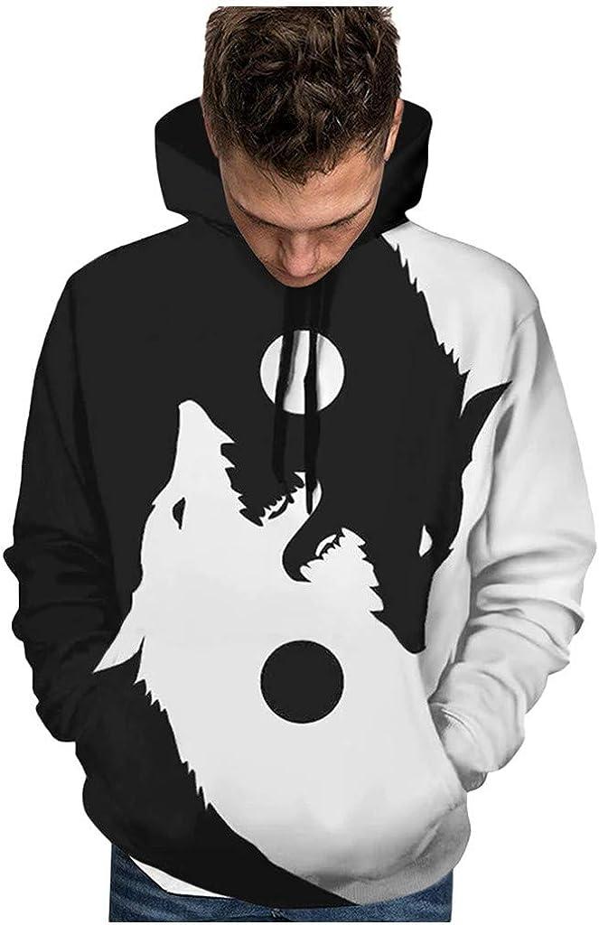 Halloween Costumes, F_Gotal Men Hoodies Sweatshirt Scary Halloween 3D Print Long Sleeve Party Hoodies Top