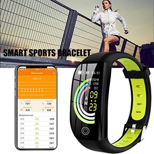 Reloj Inteligente, F21 Pulsera Inteligente GPS Rastreador de Actividad física 1.14'Deporte Impermeable Reloj de presión Arterial Monitor de sueño Banda de Pulsera
