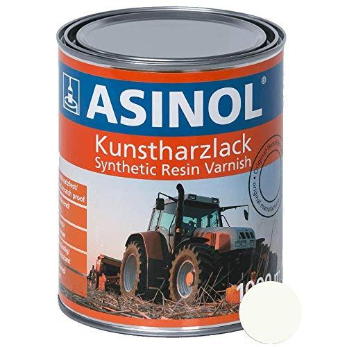 ASINOL RAL 9010 reinweiß 1.000 ml Kunstharzlack Farbe Lack 1l Liter Dose