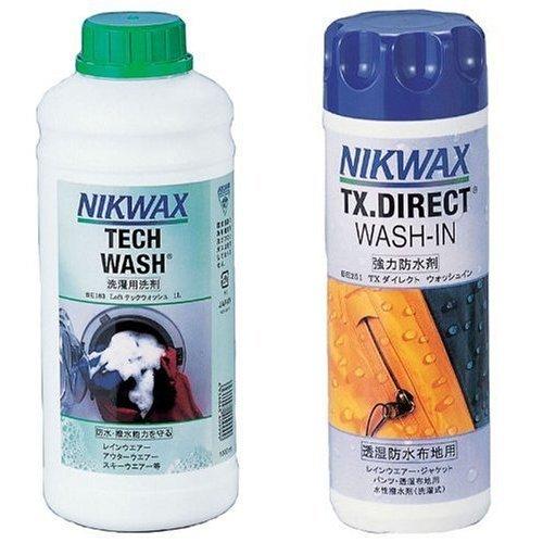 【おすすめセット】NIKWAX LOFTテックウォッシュ1L 【洗剤】 1個 + TX.ダイレクトWASH-IN 【撥水剤】 1個