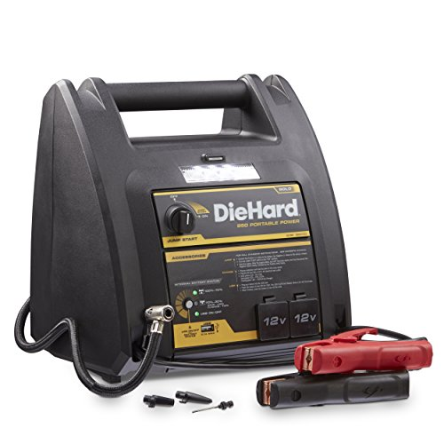 DieHard 71687 950 Peak Amp 12V Jump Starter with USB/12V Portable Power Ports and 150PSI Air Compressor