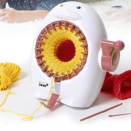 WY-CAR Máquina de Tejer Juguetes, máquina de Tejer a Mano, Kit Educativo de telares Redondos, Juego de Juguetes para Coser, Juguetes para niños, Sombrero, Bufandas, suéter