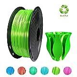 KEHUASHINA Filamento PLA Silk seda de 1.75 mm para impresora 3D - 1kg de bobina. Verde Claro - Accesorio de impresora 3D. Material de impresión 6D