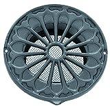 Rejilla de ventilación de estilo rústico de aluminio, DIN ø100, de rejilla, rejilla LMA