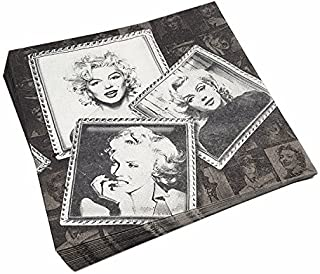 Astra Gourmet 40-Count Vintage Paper Beverage Napkins, Marilyn Monroe Luncheon Napkins, Cocktail Napkins