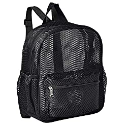 commercial Semi-shear mesh mini backpack, clear mesh backpack that can be used for commuting, swimming, etc. small mesh backpack