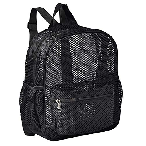 Semi-Transparent Mini Mesh Backpack, See Through Mesh Backpack Small for Commuting, Swimming,...
